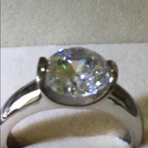Qvc Jewelry Steel By Design Diamonique Ring Poshmark